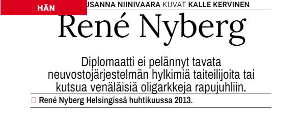 """Suomen Kuvalehti 16/2013 """"Hän"""""""