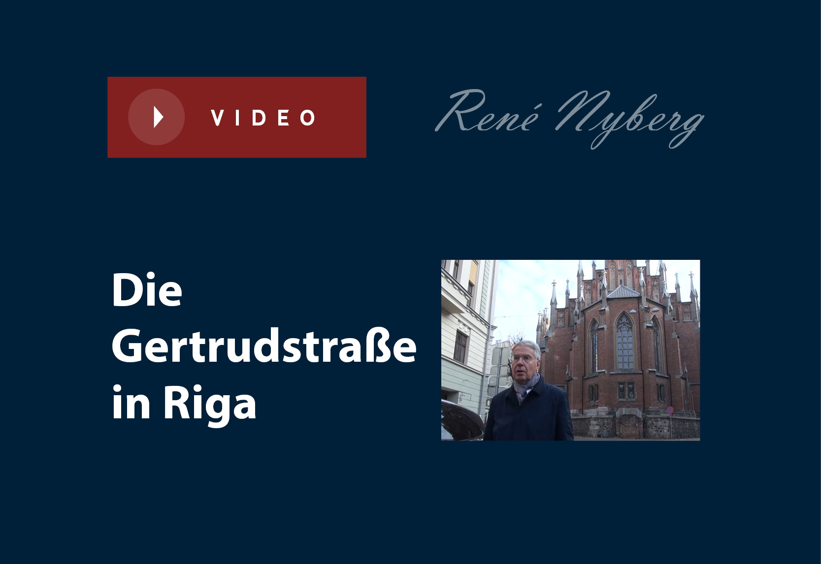 Die Gertrudstraße in Riga