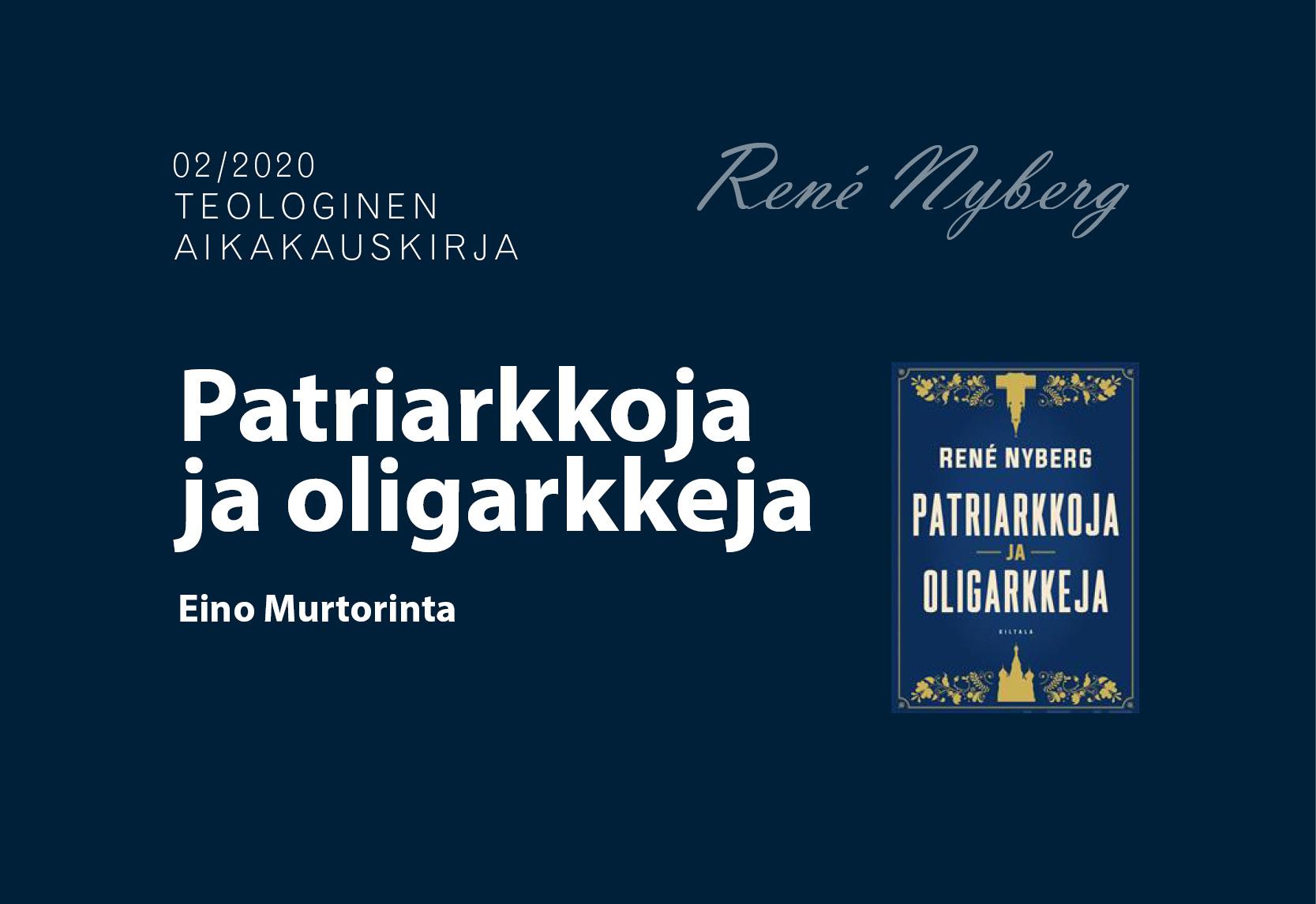 Kirja-arvio: Patriarkkoja ja oligarkkeja